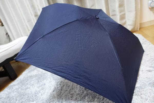 最軽量の折り畳み傘を広げた表側