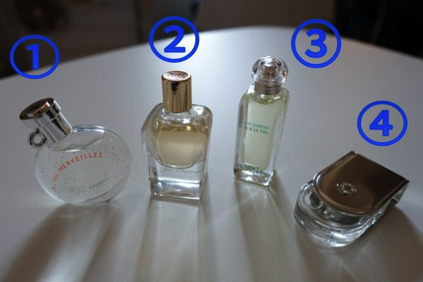 エルメスのミニチュア香水