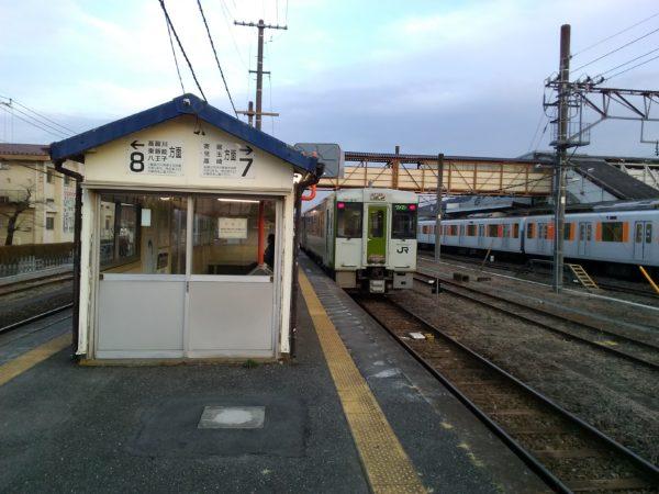 小川町駅のホーム