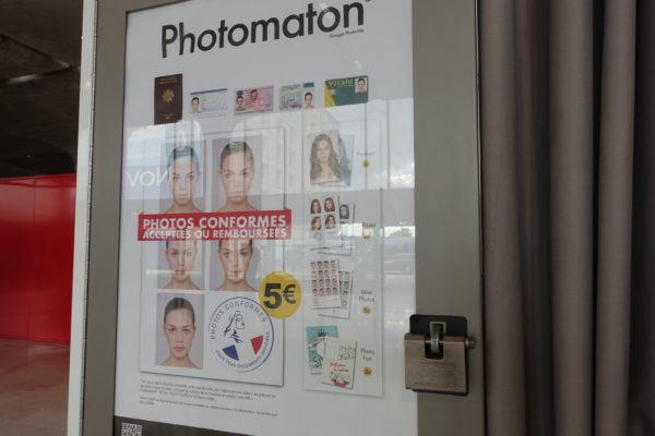 証明写真は5ユーロ