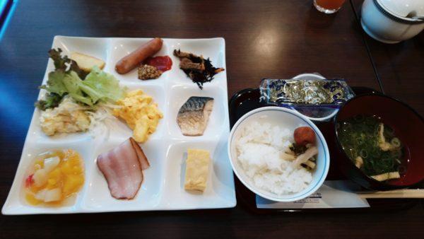 リノホテル京都の朝食バイキング