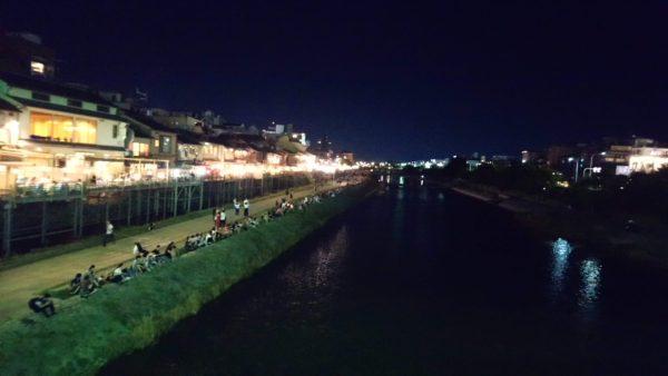 京都夜の鴨川