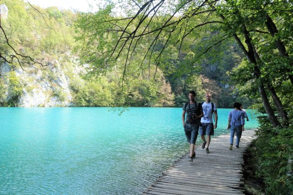 クロアチアのプリトヴィツェ湖群国立公園