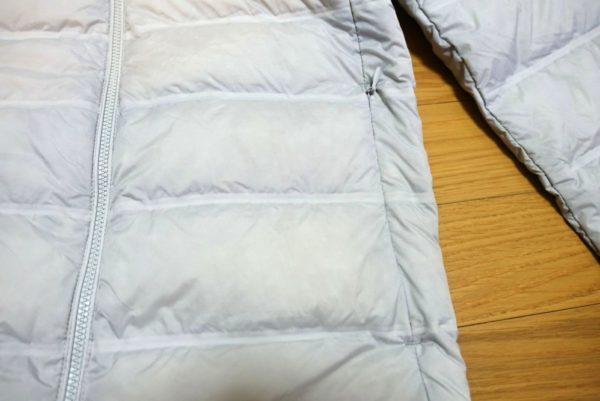 ユニクロのウルトラライトダウンシームレスパーカのポケット