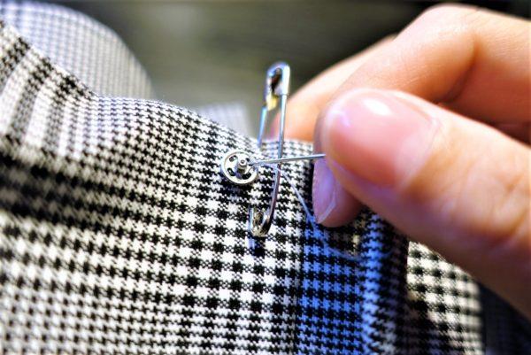 スナップをピンなしバックルベルトに縫いつける