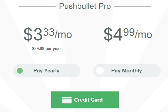 Pushbulletのアプリ料金