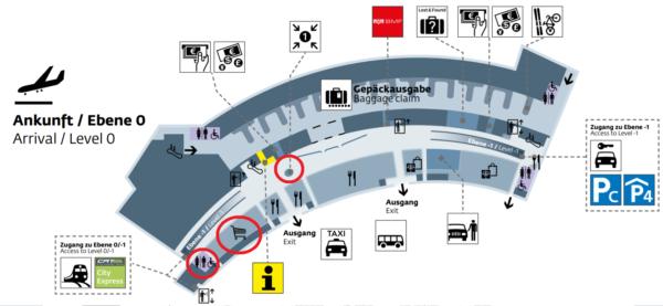 ウィーン国際空港のフロアマップ