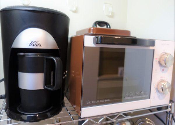 カリタの一杯用コーヒーメーカー(TS-101)と一枚用とトースター