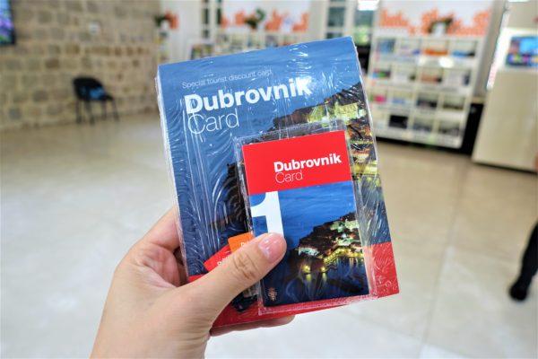 ドブロブニーク観光案内所内で受け取ったドブロブニクカード