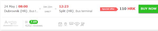 クロアチアの高速バスの比較サイト