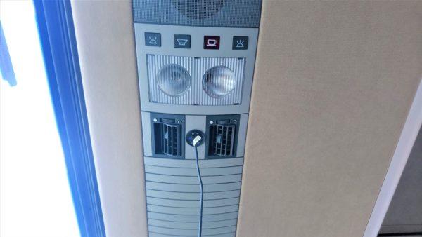 Arrivaの長距離バスにはUSB電源コンセントがある