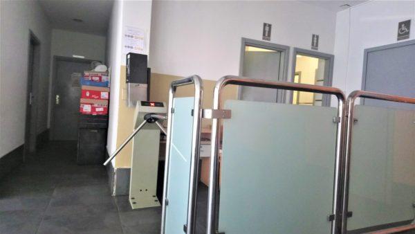 ドブロブニクの長距離バスターミナルの待合室にあるトイレ