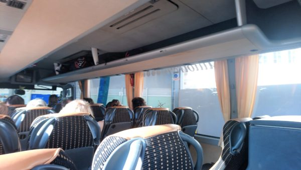 Arrivaの長距離バスの中の様子