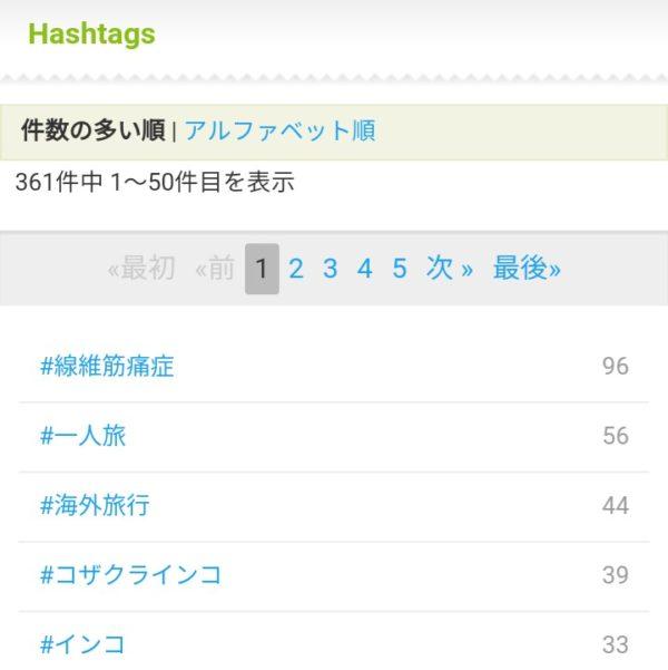 ツイログで#ハッシュタグごとにツィートをみることができる