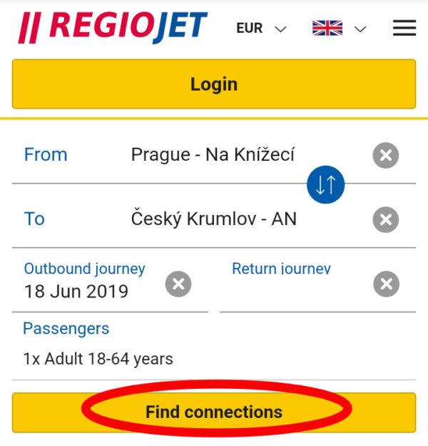 REGIOJETバスの予約とチケット購入方法