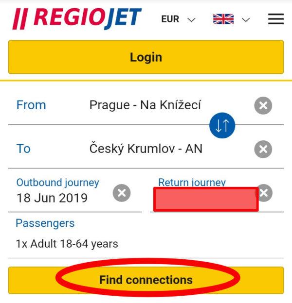 REGIOJETバスの予約と往復チケット購入方法