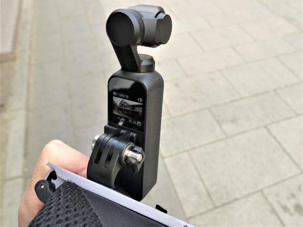 Osmo PocketのPGYTECH製のクリップマウントは画面が見れる