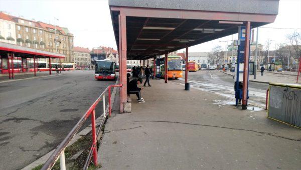 プラハのNa Knížecí バスターミナル