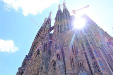バルセロナ未完のサグラダファミリア教会