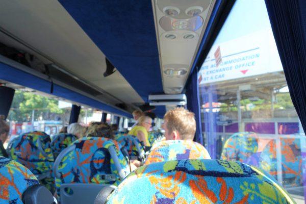 高速バスの車内の様子