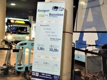 Aerobusの経由地と終点のバス停と所要時間