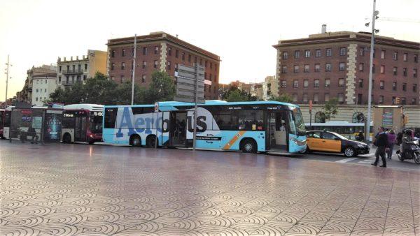 Aerobusとカタルーニャ広場