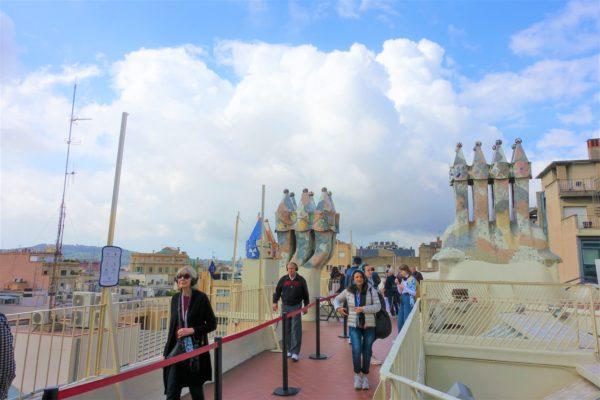 カサ・バトリョの屋上テラス