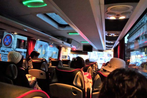マイバスのバス車内