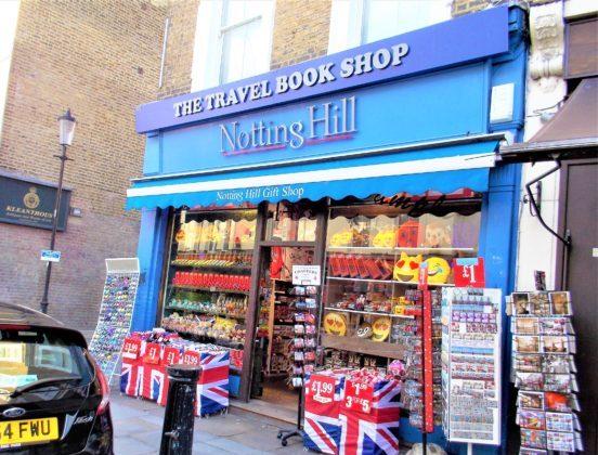 映画ノッティングヒルの恋人でウィリアムが働いていた本屋(The Travel Books Co.)