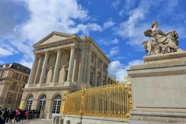 ベルサイユ宮殿の入場口