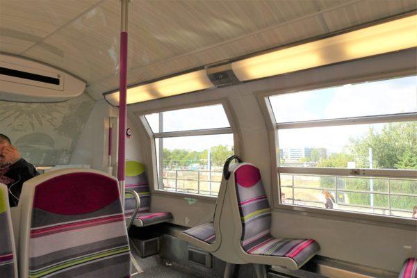 RER(高速郊外鉄道)の車内