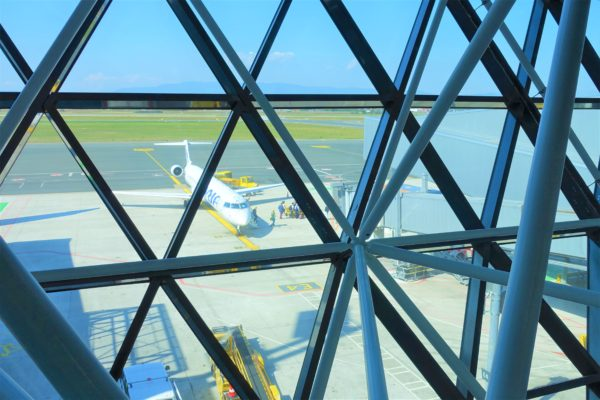 ザグレブ空港と飛行機