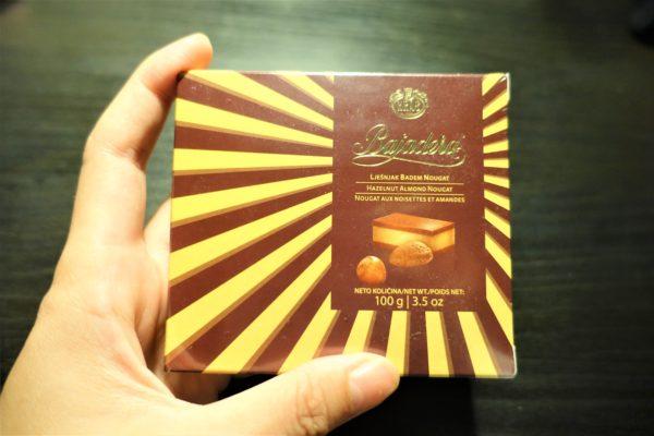 クロアチアのKrašクラッシュ社のバヤデラ(Bajadera)チョコレート
