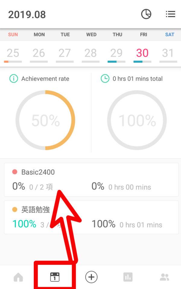Todaitの勉強アプリはグラフ化される