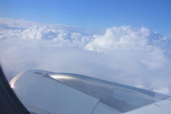 ルフトハンザ航空の窓からの眺め