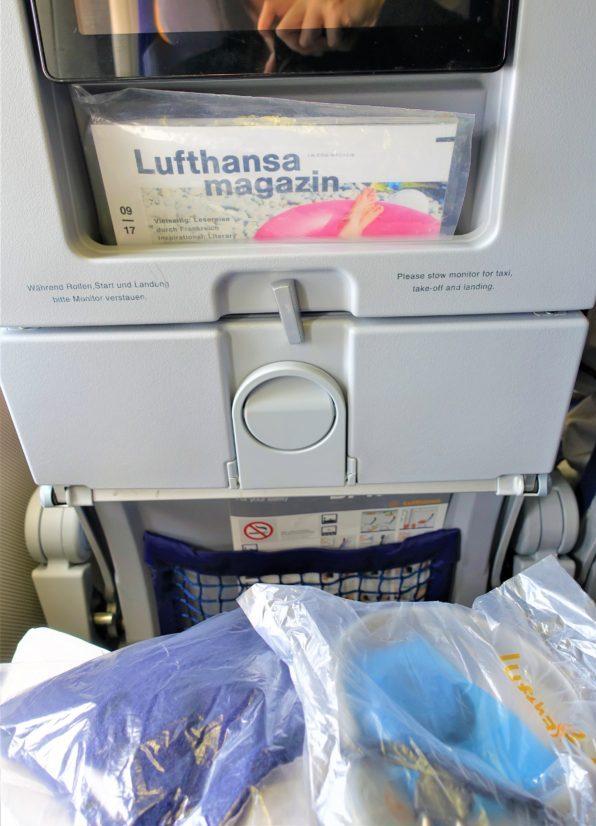 ルフトハンザ航空のエコノミークラスのアメニティ