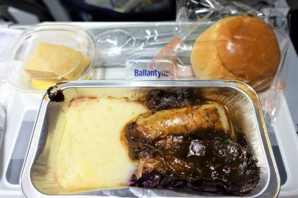 ルフトハンザ航空の夕食の機内食メニュー
