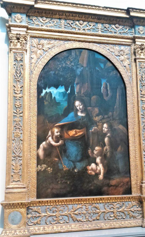 ロンドンのナショナル・ギャラリーの岩窟の聖母(The Virgin of the Rocks)