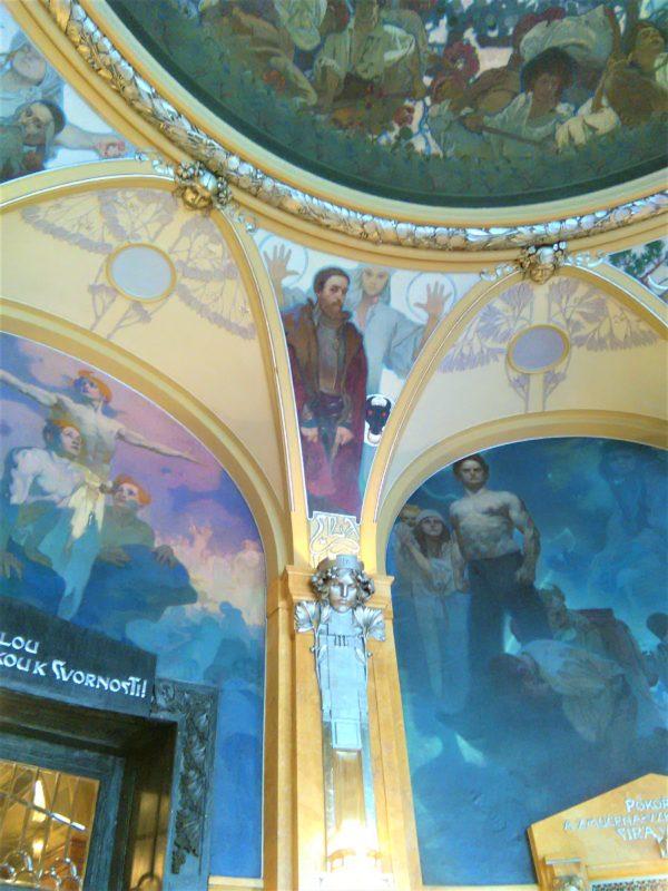 プラハ市民会館のミュシャの市長の間