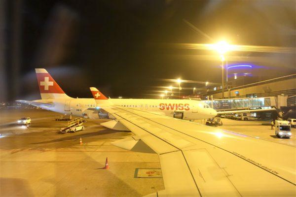 チューリッヒ空港を出発しプラハ空港へ