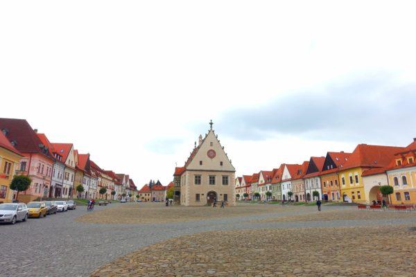 スロバキアの世界遺産バルデヨフの街並み