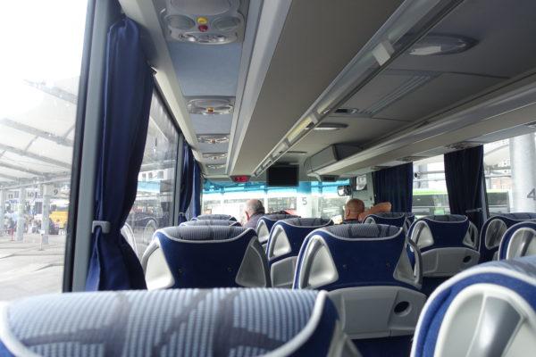 ブラスチラヴァ中央バスターミナルからのバス車内