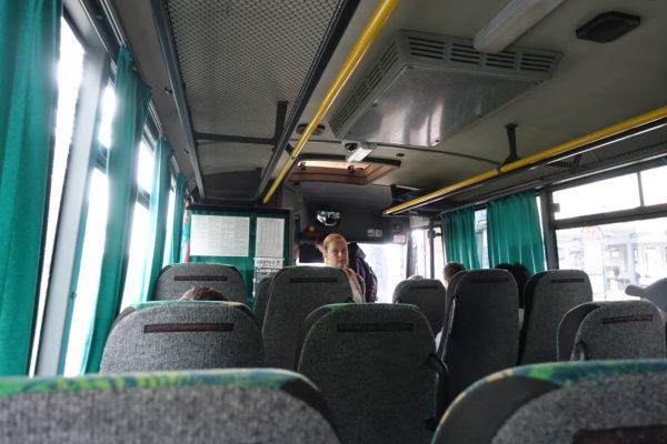 バスでプレショフからコシツェへ移動