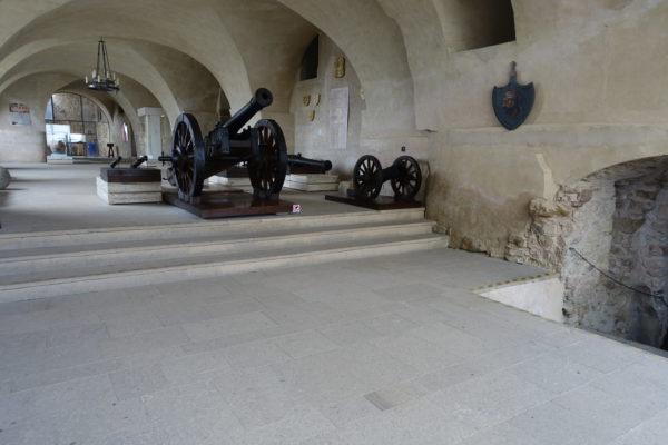 スピシュ城の内部は博物館