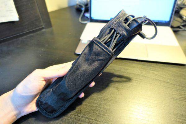 ミニヘアストレートアイロンLOVANIは耐熱機能付きポーチが付いてくる