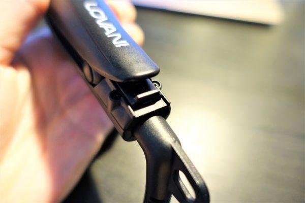 ミニヘアストレートアイロンLOVANIは閉じた状態でロックができる