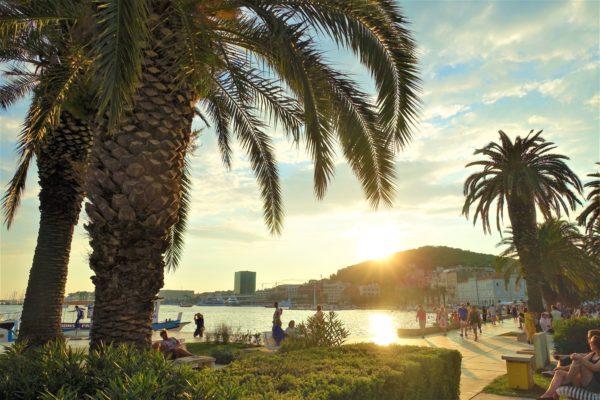 クロアチアのスプリットの海岸