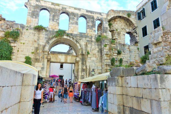 クロアチアのスプリットの旧市街