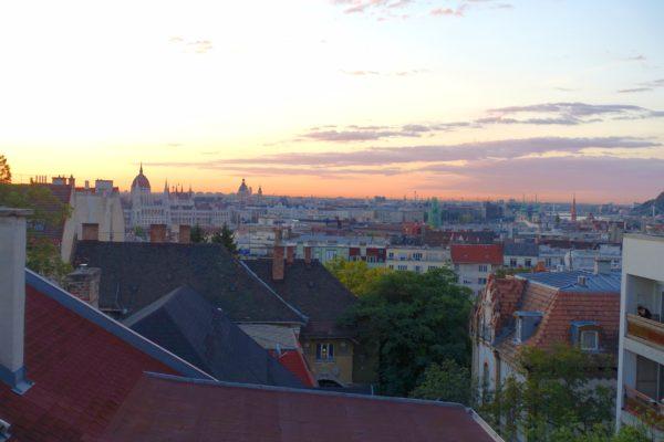 ブダペストの朝の景色