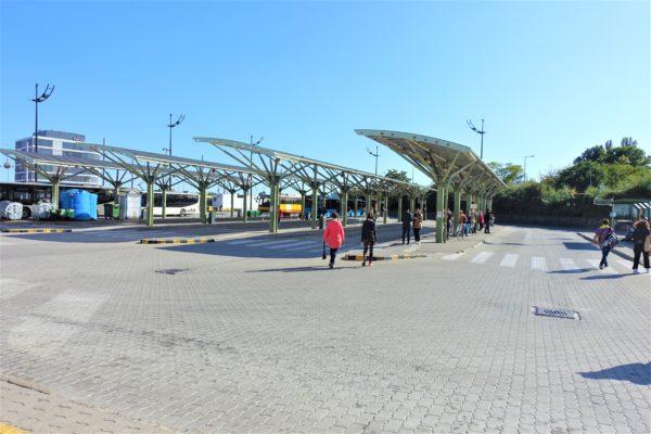 ハンガリーのBudapest Kelenföldバスターミナル